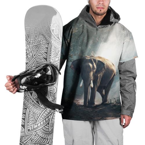 Накидка на куртку 3D  Фото 01, Слон в лесу