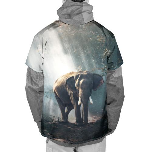 Накидка на куртку 3D  Фото 02, Слон в лесу