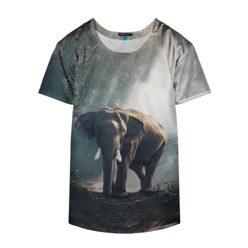 Накидка на куртку 3D  Фото 04, Слон в лесу