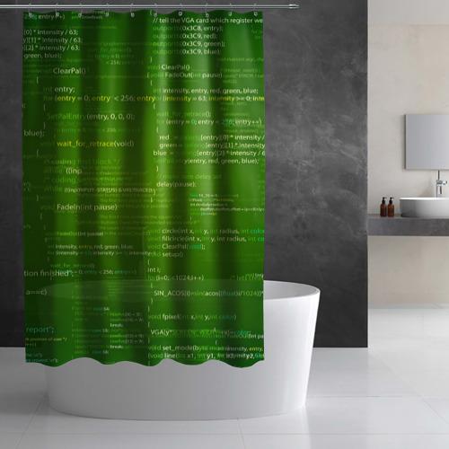 Штора 3D для ванной  Фото 03, technology code