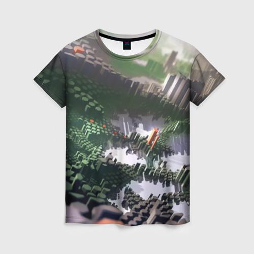 Женская футболка 3D Объемный эквалайзер
