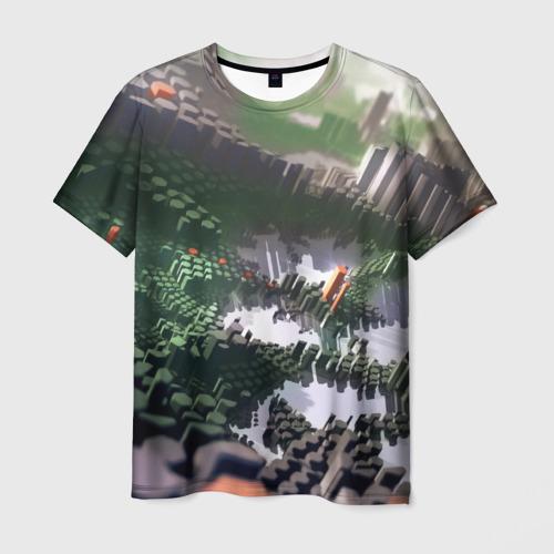 Мужская футболка 3D Объемный эквалайзер