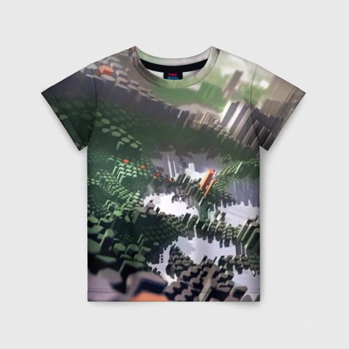Детская футболка 3D Объемный эквалайзер