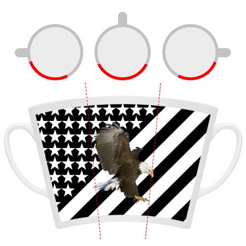 Кружка Латте  Фото 06, Орел на флаге