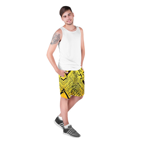 Мужские шорты 3D  Фото 03, Newspaper