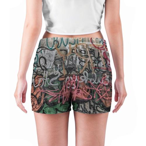 Женские шорты 3D  Фото 04, Граффити