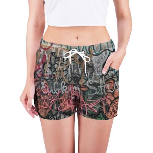 Женские шорты 3D  Фото 03, Граффити