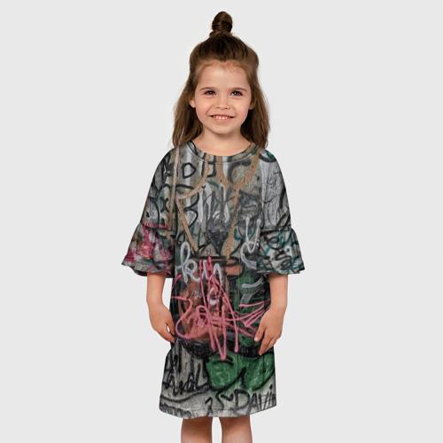Детское платье 3D  Фото 01, Граффити