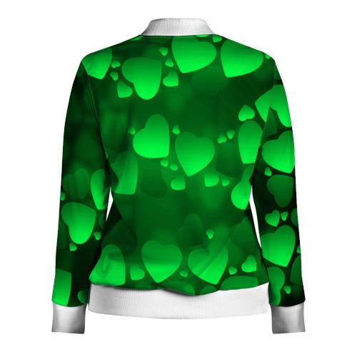 Женская олимпийка 3D  Фото 02, Зеленые сердечки