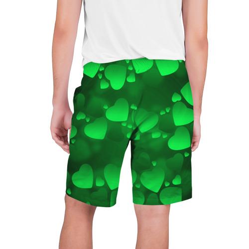 Мужские шорты 3D  Фото 02, Зеленые сердечки