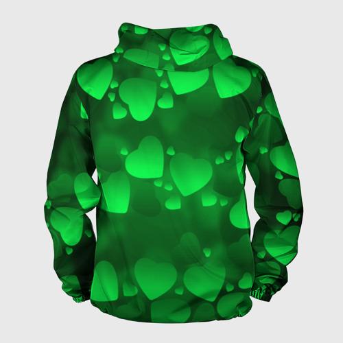 Мужская ветровка 3D  Фото 02, Зеленые сердечки
