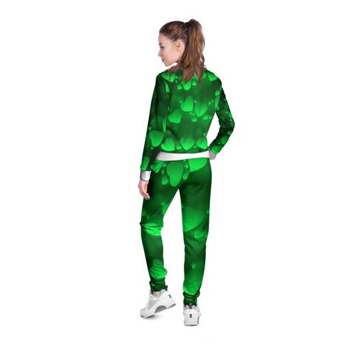 Женская олимпийка 3D  Фото 04, Зеленые сердечки