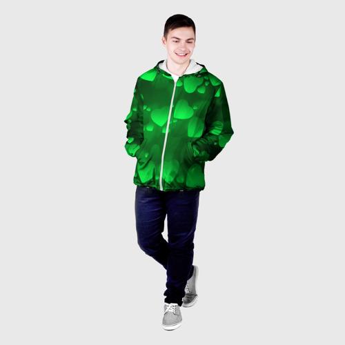 Мужская куртка 3D  Фото 03, Зеленые сердечки