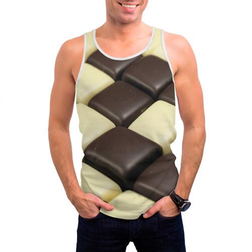 Мужская майка 3D  Фото 03, Шоколадные конфеты