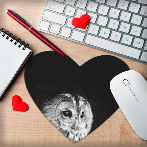 Коврик сердце  Фото 02, Филин