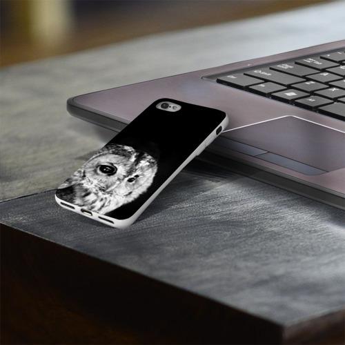Чехол для Apple iPhone 8 силиконовый глянцевый  Фото 03, Филин
