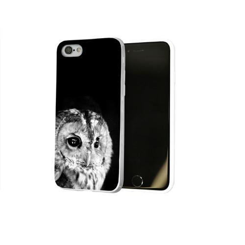 Чехол для Apple iPhone 8 силиконовый глянцевый  Фото 02, Филин