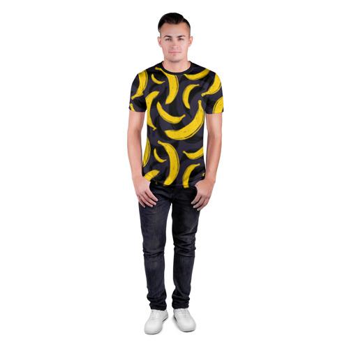 Мужская футболка 3D спортивная Бананы Фото 01