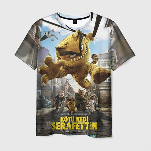Мужская футболка 3D ПЛОХОЙ КОТ ШЕРАФЕТТИН
