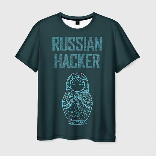Мужская футболка 3D  Фото 01, Русский хакер