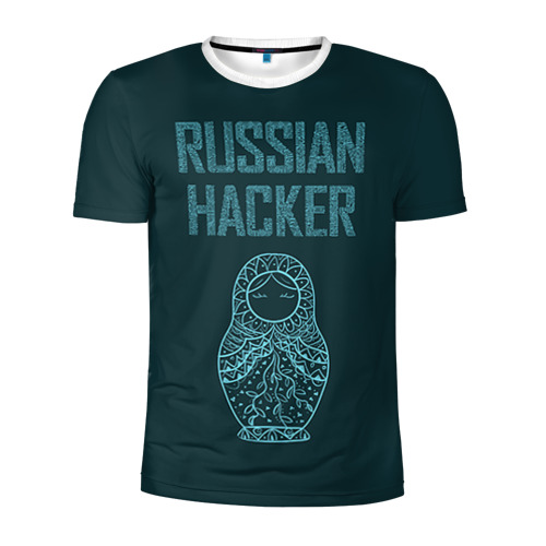 Мужская футболка 3D спортивная Русский хакер