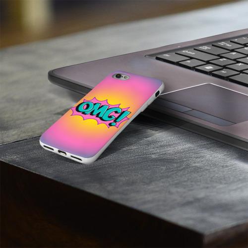 Чехол для Apple iPhone 8 силиконовый глянцевый  Фото 03, OMG