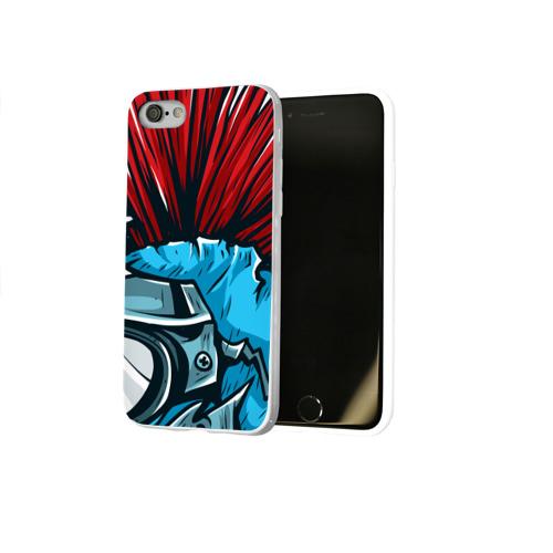 Чехол для Apple iPhone 8 силиконовый глянцевый  Фото 02, Шлем