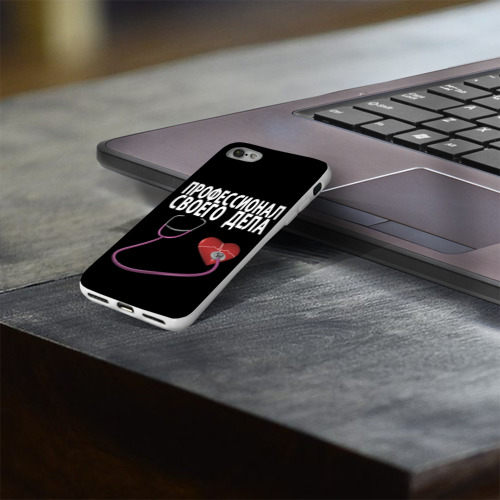 Чехол для Apple iPhone 8 силиконовый глянцевый  Фото 03, Профессионал своего дела