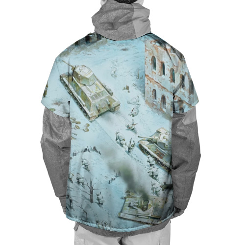 Накидка на куртку 3D  Фото 02, Бой ВОВ в городе