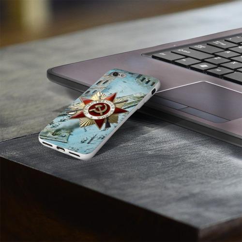Чехол для Apple iPhone 8 силиконовый глянцевый  Фото 03, Бой ВОВ в городе