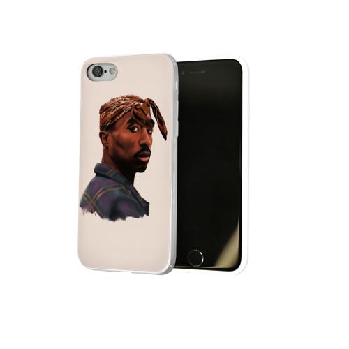 Чехол для Apple iPhone 8 силиконовый глянцевый  Фото 02, Tupac