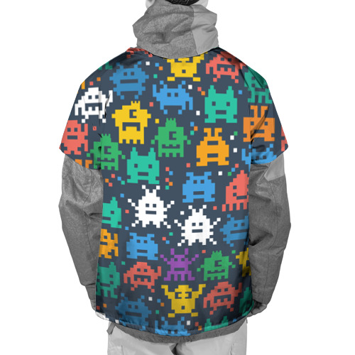 Накидка на куртку 3D  Фото 02, Монстры пиксели