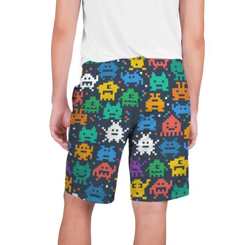Мужские шорты 3D  Фото 02, Монстры пиксели