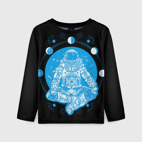 Детский лонгслив 3D Космонавт