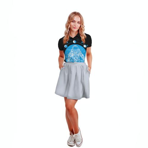 Женская рубашка поло 3D  Фото 04, Космонавт