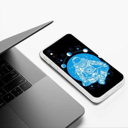 Чехол для iPhone XS Max матовый Космонавт Фото 01