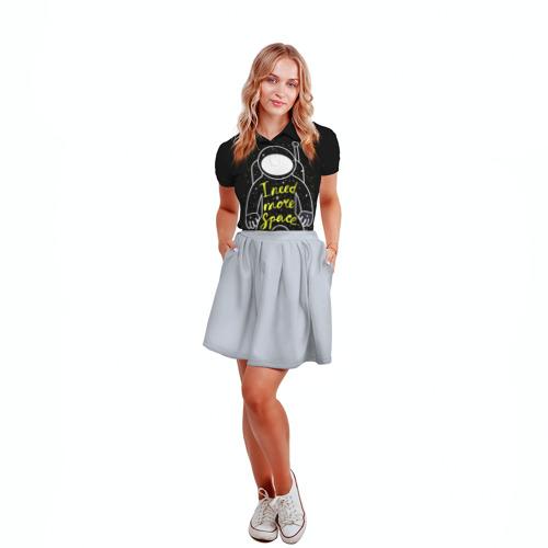 Женская рубашка поло 3D  Фото 04, More space