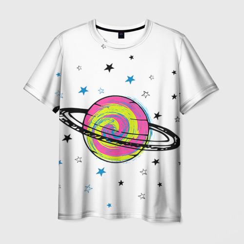 Мужская футболка 3D Планета