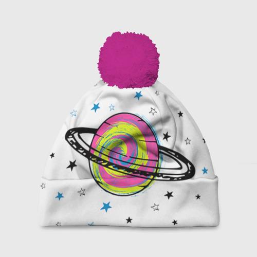 Шапка 3D c помпоном Планета