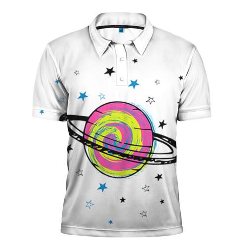 Мужская рубашка поло 3D Планета