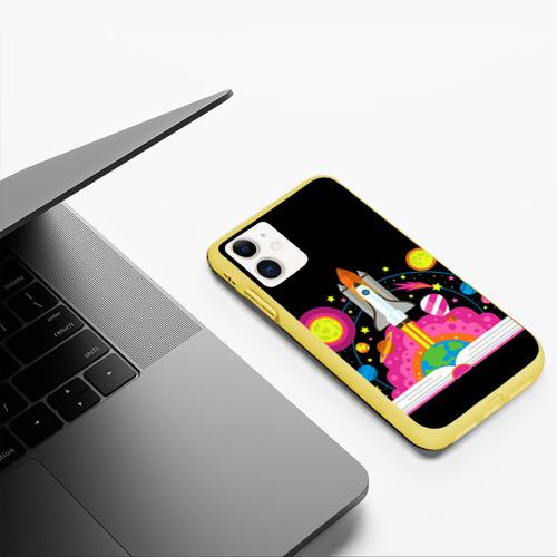 Чехол для iPhone 11 матовый Космос Фото 01