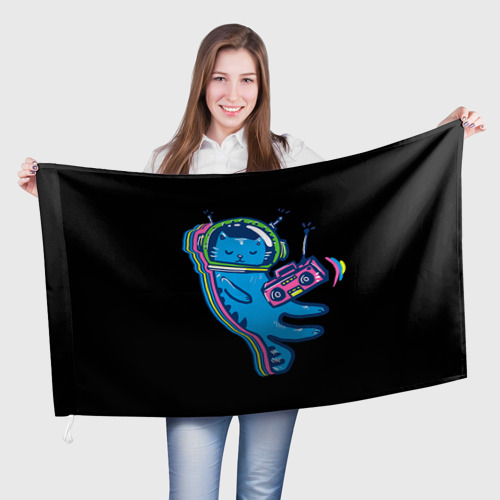 Флаг 3D Космокот 1 Фото 01