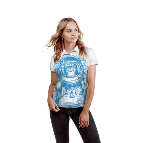 Женская рубашка поло 3D  Фото 03, Космомакака