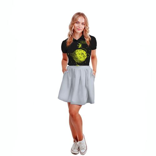 Женская рубашка поло 3D  Фото 04, Hello!