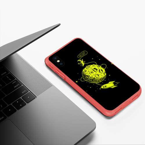 Чехол для iPhone XS Max матовый Hello! Фото 01