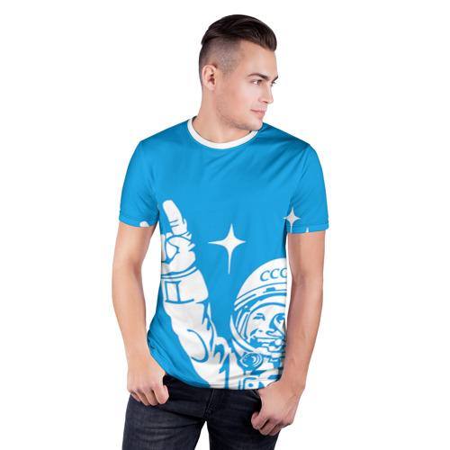 Мужская футболка 3D спортивная Гагарин 2 Фото 01