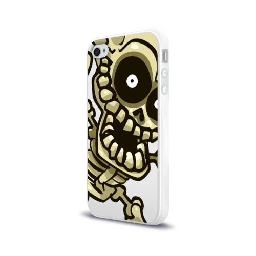 Чехол для Apple iPhone 4/4S силиконовый глянцевый Скелет Фото 01