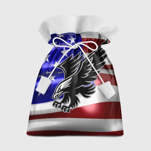Подарочный 3D мешок  Фото 01, Флаг США с орлом