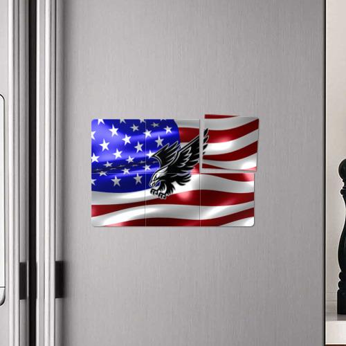 Магнитный плакат 3Х2 Флаг США с орлом Фото 01