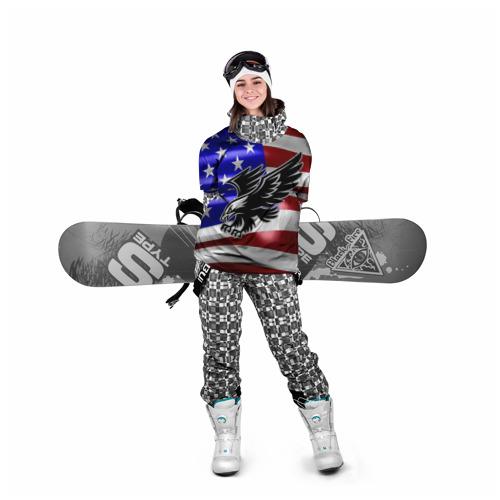 Накидка на куртку 3D  Фото 05, Флаг США с орлом
